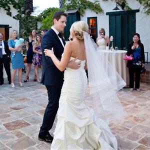 Wedding-Accessories-Ribbon-Edge-Fingertip-Veil-2-034-Horsehair-Trim-Real-Picture