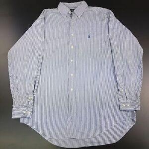 Ralph-Lauren-Mens-Shirt-16-5-34-35-2XL-Long-Sleeve-Blue-Classic-Fit-Striped