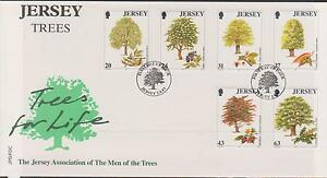 GB-JERSEY-1997-Trees-for-Life-60th-Ann-Men-of-Trees-Association-SG-830-35-FDC