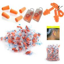100200300 Pairs Ear Plugs Foam Sleep Travel Noise Shooting Earplug 32db Orange