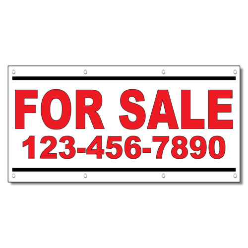 For Sale Phone Custom Red Custom 13 Oz Vinyl Banner Sign With Grommets