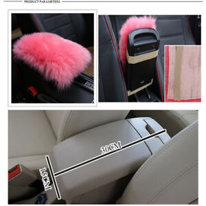 Details about Real Sheepskin Car Armrest Console Seat Comfortable Cover Pad  Cushion Pillow Mat