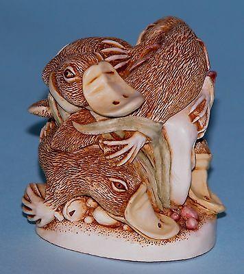 """Harmony Kingdom box TJPL """"Down Under"""" NIB Platypus family, eggs, 1997/1999 ret."""