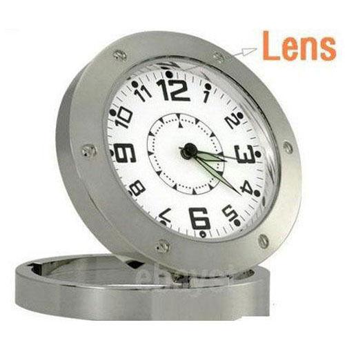 Steel SPY Desk Clock Hidden Camera Cam DVR Security REC Surveillance Camcorder