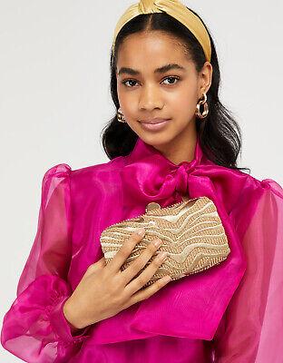 Monsoon Oprah Organza Bow Blouse Pussy Cerise Hot Bright Pink Top 10 6 38 Ebay