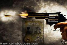 History of Public Enemies Al Capone 1oz silver embed 38 special PMC round