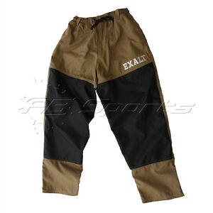 Exalt Throwback Retro Tournament Paintball Pants Tan NEW Free Ship Large L Lg