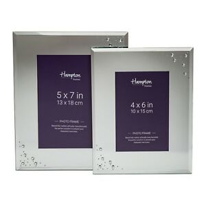 Mirror-Glass-With-Glitter-Highlight-Photo-Picture-Display-Frame-4x6-5x7-6x8-8x10