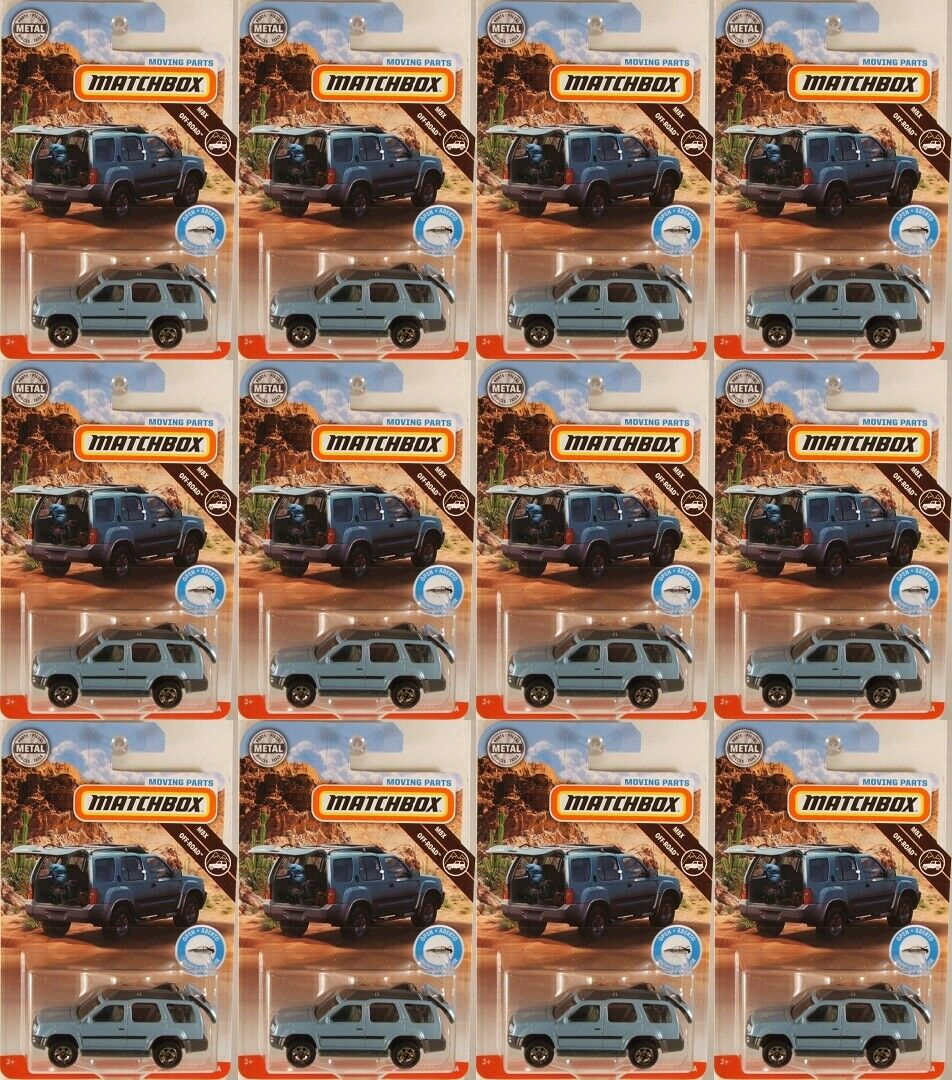 MATCHBOX Moving Parts 2000 Nissan XTerra, 2019 issue ● LOT of 12x (NEW in BLIST)
