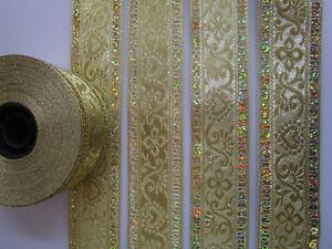5 METER Borte Spitze Nichtelastisch Gold 2cm elegante top mode