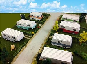 Details about N Scale Buildings - Mobile Home Trailer Park Camper Homes  Cardstock kit set
