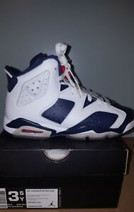3cd1f3f0260dc5 Image is loading AIR-JORDAN-6-RETRO-GS-OLYMPIC-3-5-