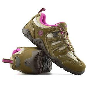 Damas-Mujeres-Cuero-Nuevo-Hi-Tec-Quadra-Caminar-Senderismo-Entrenadores-Botas-Zapatos-Talla