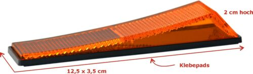 Cale-porte CHAT Réflecteur Catadioptre 2 x juge//Hr Orange