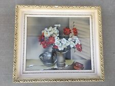 Original Sue Guild Air Brush Watercolor Painting Under Glass