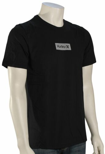 New Hurley Dri-Fit One and Only Small Box Reflective T-Shirt Classic Black