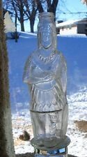 CLEAR GLASS BROWN'S CELEBRATED INDIAN HERB BITTERS FIGURAL BOTTLE