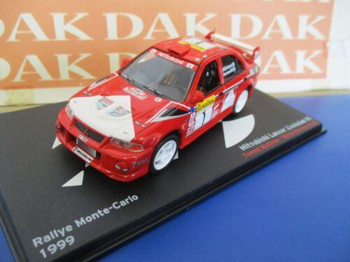 Die cast 1//43 Modellino Auto Mitsubishi Lancer Evo VI Rally Monte Carlo 1999