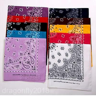 2014 Fashion Cotton Paisley Bandanas double sided head wrap scarf wristband 006