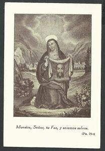 Estampa antigua de la Santa Faz andachtsbild santino holy card santini