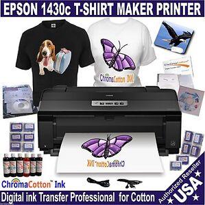 Epson 1430 printer t shirt maker for print 100 cotton for Epson t shirt printer