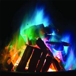 10-x-Mystique-Feu-Magique-Couleur-Flammes-Bonfire-Sachets-cheminee-Fosse-Patio