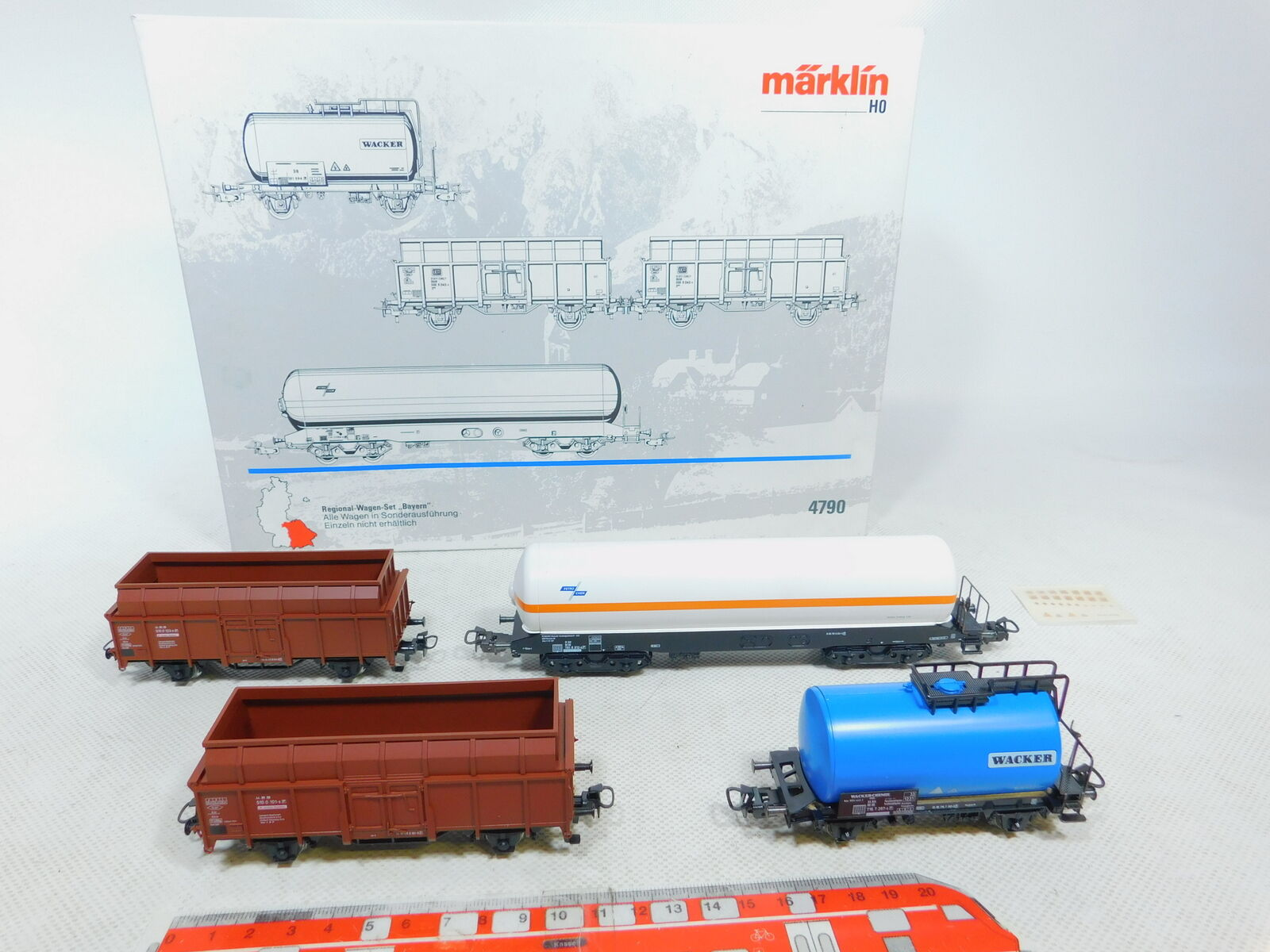 Bz511-1 märklin h0 ac 4790 freight car regional wagon set