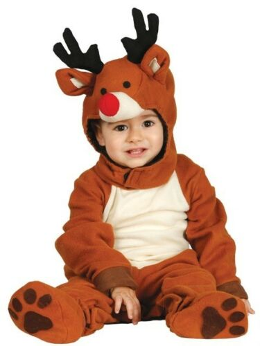 Baby Girls Boys Cute Reindeer Christmas Fancy Dress Costume Outfit 6-24 Months