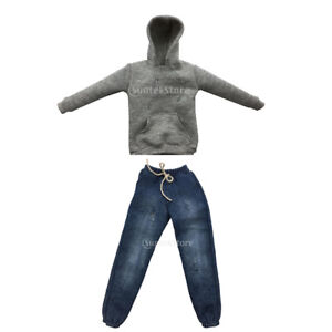 Jeans Denim 1//6 Scale 12 inch Male Doll Clothes Army Green Long Sleeve Shirt