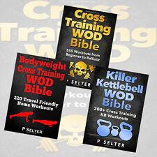 P Selter 3 Books Collection Set(Cross Training Wod Bible, Bodyweight Cross Train