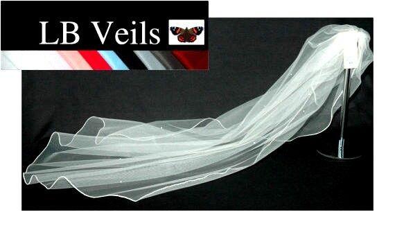 Crystal Veil Wedding Cathedral Length Ivory  2 Tier Long Sparkle LBV151 LB Veils