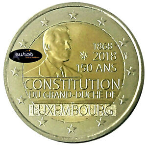 2-euros-commemorative-LUXEMBOURG-2018-Anniversaire-de-la-Constitution-UNC