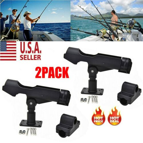 2pack Side Rail Mount For Kayak Boat Fishing Pole Rod Holder Tackle Kit Upgraded