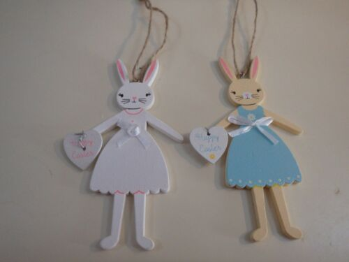 Easter gifts girl boy pull string or wooden hanging eggs decoration easter bunny