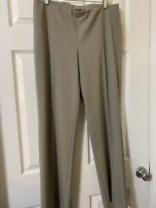 eileen fisher women's beige khaki straight leg pants