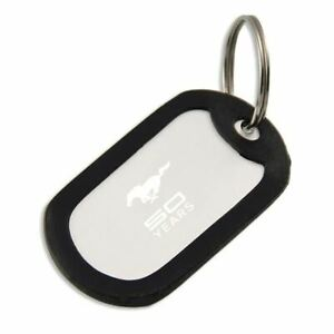 Mustang 50 YEARS Dog Tag Key Chain - Discontinued, Discounted & FREE US Shipping