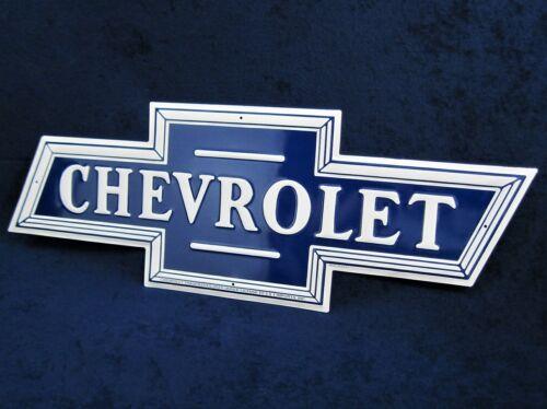 CHEVROLET Bowtie *US MADE* Die-Cut Embossed Metal Sign Man Cave Garage Bar Decor