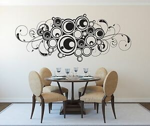 n598 Vinyl Decal floral pattern ornament indoor decoration Wall Sticker