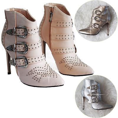 Marchio Di Tendenza Women's Donna Tacchi Alti A Punta-punta A Spillo Cinturini Alla Caviglia Scarpe Scarpe Neutra- Design Accattivanti;