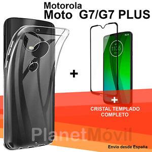Dynamique Motorola Moto G7/ G7 Plus Protector Cristal Completo 3d Vidrio Templado+ Funda Activation De La Circulation Sanguine Et Renforcement Des Nerfs Et Des Os