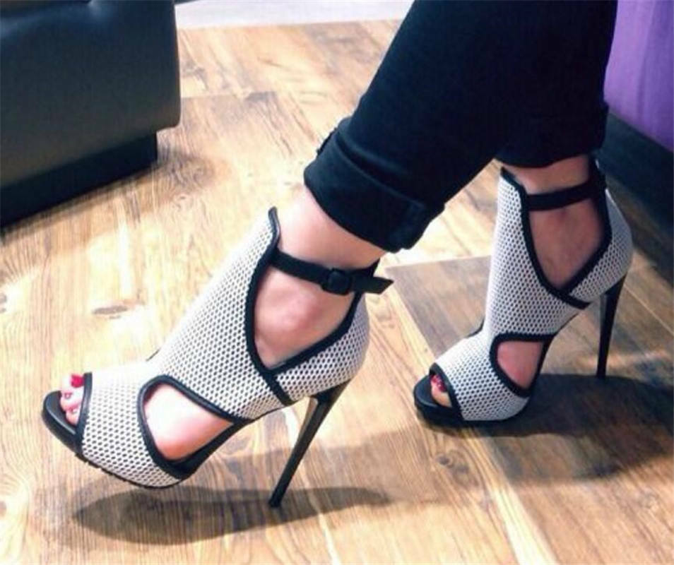 WOmen's Roma Cut Out Open toe High Stiletto Heel Sandals heels Club shoes US 10