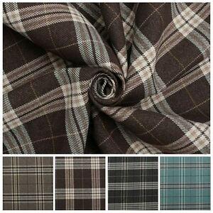 TRADITIONAL-TARTAN-CHECK-SOFT-TWILL-COTTON-FAUX-WOOL-CUSHION-UPHOLSTERY-FABRIC