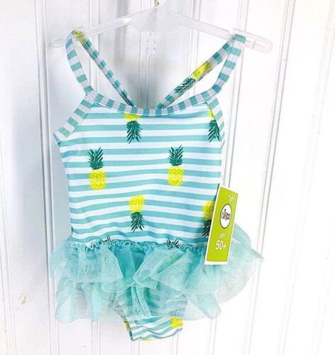 Circo Baby Girls Pineapple Tutu 1-Piece Swimsuit Multi-colored 3-6M NEW