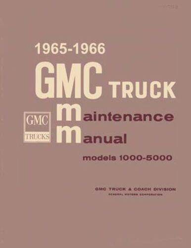 Bishko OEM Repair Maintenance Shop Manual Bound for Gmc 10-50 Series 1965-1966