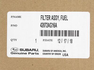 Genuine SUBARU OEM 2005-09 Legacy /& Outback 06-14 Tribeca Fuel Filter 42072AG16A