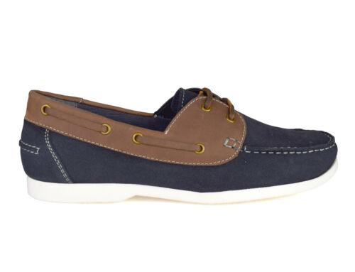 London Chaussures en Street Wave Silver partir marine bleu daim bateau 60 de w45UHq