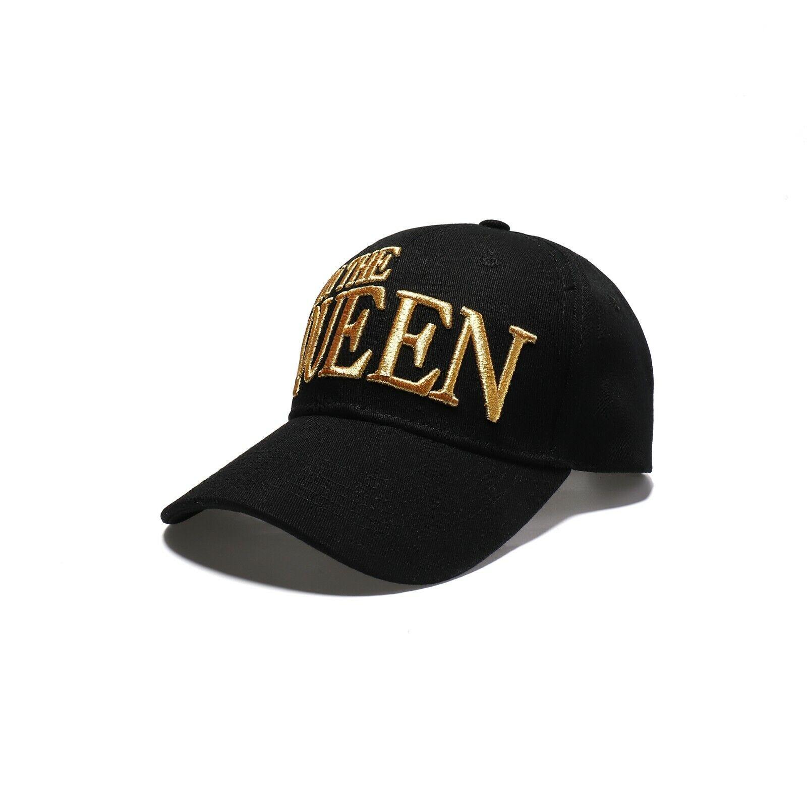 I'M The Queen Baseball Kappe, Gold Hut Damen, Mädchen,Schwarz/Gold