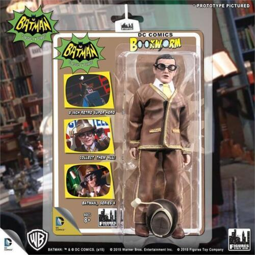 BATMAN 1966 TV SERIES 4; SET OF 4;  8 INCH  FIGURES  MINT ON SEALED CARDS NEW