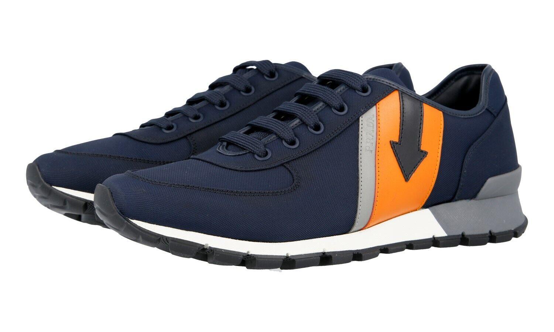 shoes PRADA LUXUEUX 4E2980 OLTREMARE ORANG NOUVEAUX 5 39 39,5