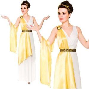 Femmes Déesse Grecque Costume Adulte Romain Grecian Toga Fancy Dress pour Femme Tenue